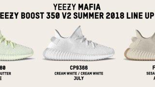 【一覧】2018年夏にリリース予定のイージーブースト / adidas Yeezy Boost 350 V2 Summer Line Up