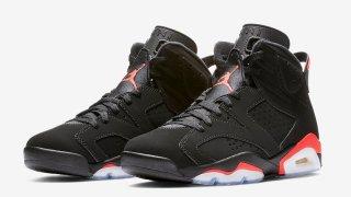 """【2/16】エアジョーダン6 """"インフラレッド"""" 復刻 / Air Jordan 6 """"Black Infrared"""" 384664-060"""