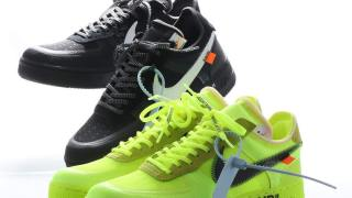 【12/19】オフホワイト x ナイキ エアフォース1 ブラック & ボルト / Off-White x Nike Air Force 1 AO4606-001, AO4606-700