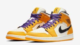 """【発売予定】エアジョーダン1 Mid レイカーズ / Air Jordan 1 Mid """"Lakers"""""""