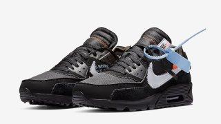 """【2/7, 2/9】オフホワイト x ナイキ エアマックス90 ブラック / Off-White x Nike Air Max 90 """"Black"""" AA7293-001"""