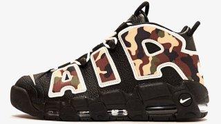 """【6/19】ナイキ モアテン ブラックカモ / Nike Air More Uptempo """"Black Camo"""" CJ6122-001"""