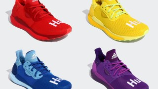 "【8/31】ファレル x アディダス ソーラー HU / adidas Solar Hu Glide ""Rainbow"" Collection EF2381, EF2379, EF2377, EG7770"