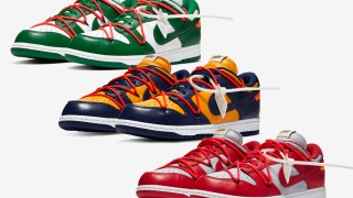 【12/20】オフホワイト x ナイキ ダンクLow 3カラー / Off-White x Nike Dunk Low Leather Collection