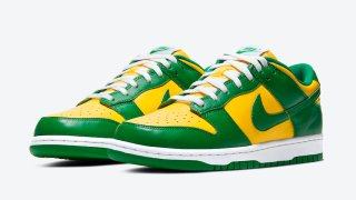 "【5/21】ナイキ ダンクロー ブラジル / Nike Dunk Low ""Varsity Maize/Pine Green"" CU1727-700"