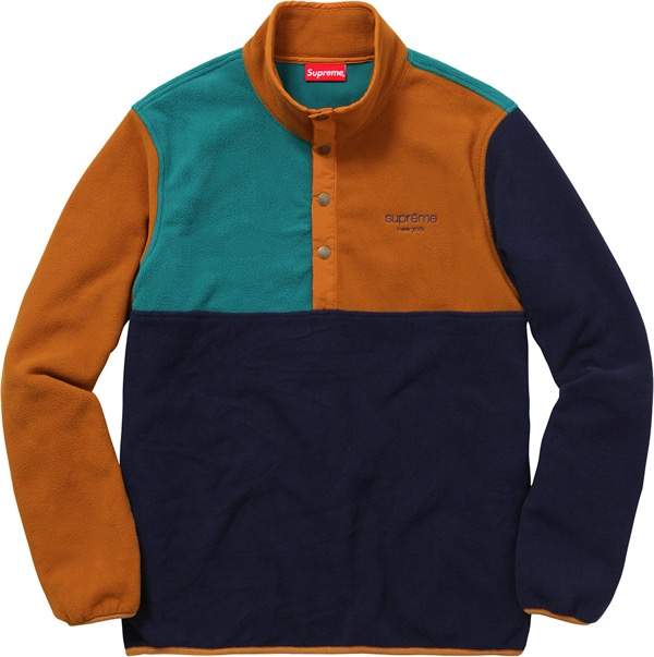 Polartec® Fleece Color Blocked Half Snap