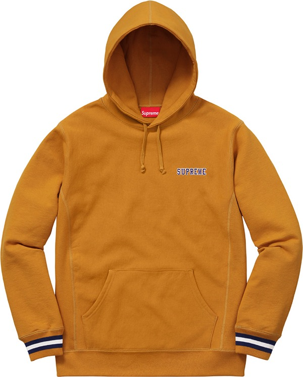Striped Cuff Hooded Sweatshirt