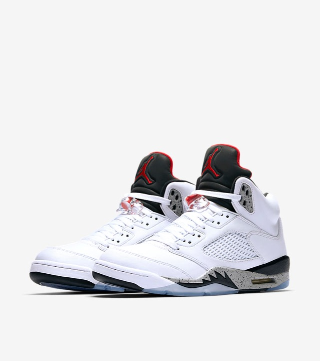 "buy popular 9b9bd 989ea NIKE AIR JORDAN 5 ""WHITE CEMENT"" 136027-104 発売予定日 2017年8月5日価格 22,680円(税込み)"
