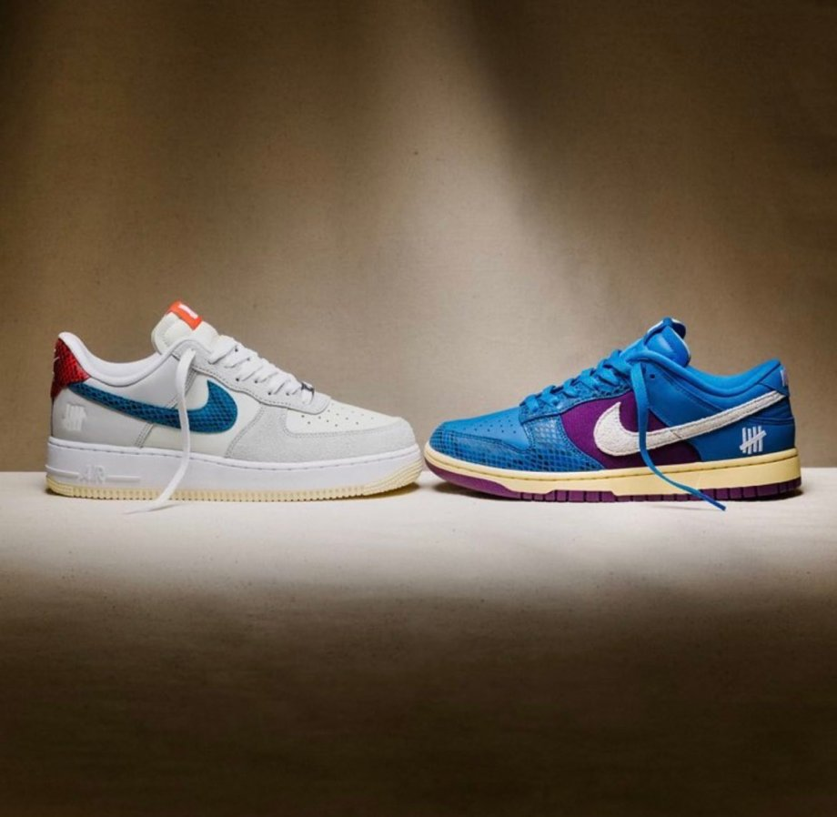 UNDEFEATED x NIKE AIR FORCE 1 Dunk vs AF-1 第2弾