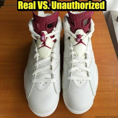 air-jordan-6-maroon-nike-air-real-fake-