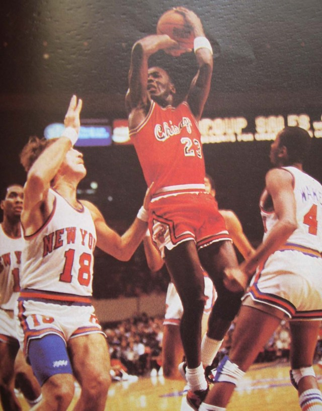Michael Jordan wearing the NBA's