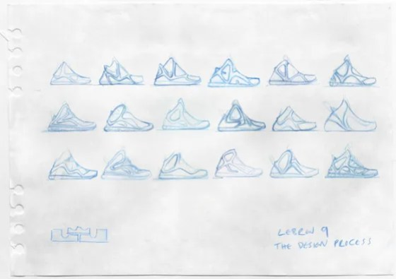 Lebron 9 Sketch  Photo credit: (Nike/ Jason Petrie)