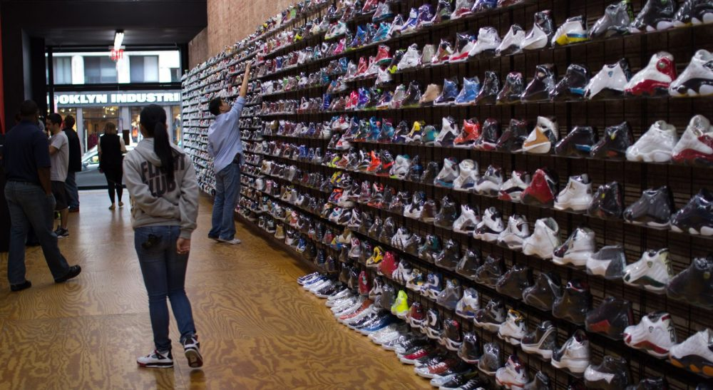 So much to choose from at Flight Club. Photo courtesy of Acclaim Mag.