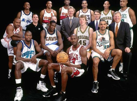 1998 NBA All-Star - East -(photo cred: Andy Hayt /NBAE via Getty Images)