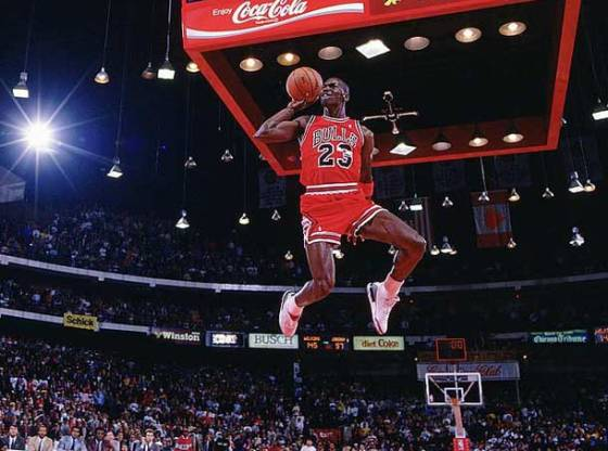"Michael Jordan 1988 Dunk Contest in Air Jordan 3 ""White Cements"""