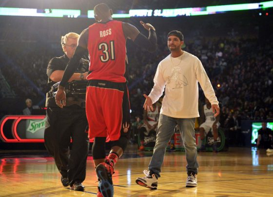 Terrence Ross and Drake teamed up for the Dunk Contest in 2014.