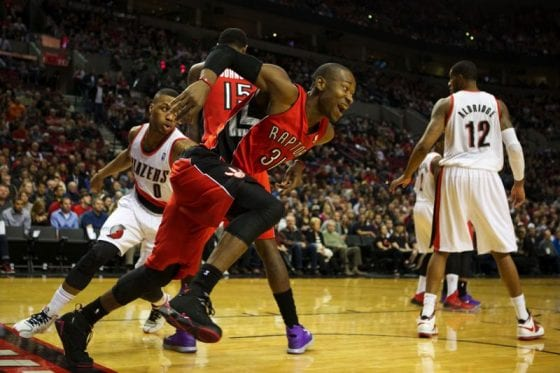 "Terrence Ross in the Air Jordan 7 ""Raptors"""