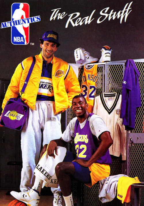Vlade Divac and Magic Johnson. Photo via NBA