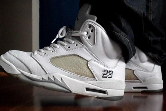 "2000 Air Jordan 5 Retro+ ""White Metallic"""