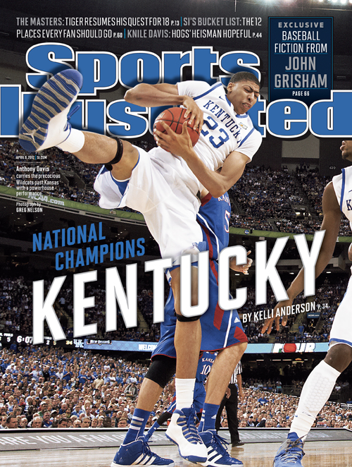 "Anthony Davis in Air Jordan 10 ""Old Royal"" Sports Illustrated Cover"