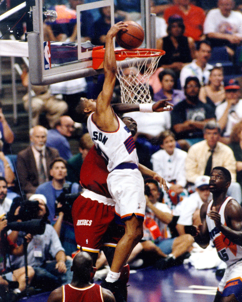 Kevin Johnson Dunk on Hakeem
