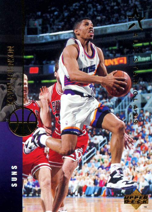 Kevin Johnson in Converse Run 'N Slam Upper Deck Card