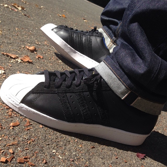 adidas Superstar with Selvedge Denim