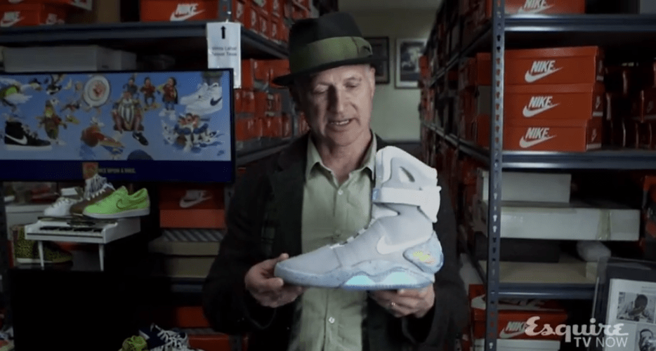 Tinker Hatfield with Nike Air Mag