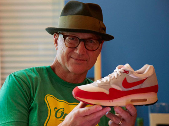 Tinker Hatfield with Nike Air Max 1