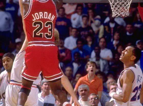 """Michael Jordan in Air Jordan 4 """"BRED"""" 'The Shot'"""