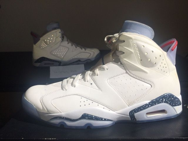 Air Jordan 6 White 3M First Championship Sample