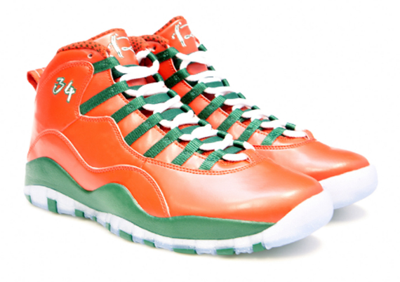 Ray Allen Jordan PEs: Air Jordan 10 2013 Christmas Day Player Exclusive