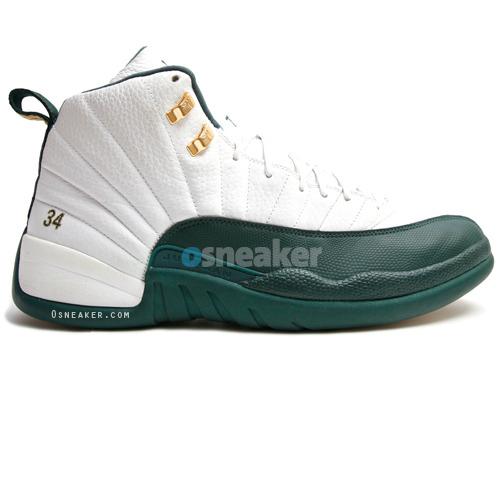 Ray Allen Jordan PEs: Air Jordan 12 Boston Celtics Home Player Exclusive