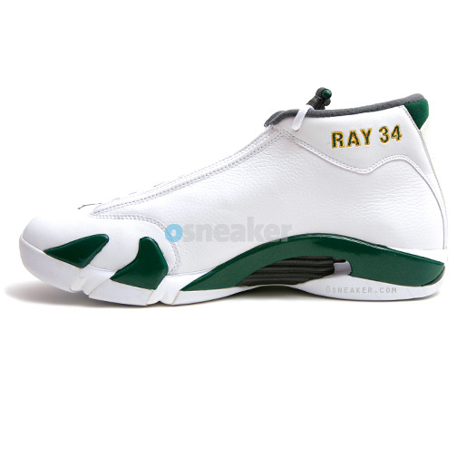 Ray Allen Jordan PEs: Air Jordan 14 Seattle Sonics Player Exclusive