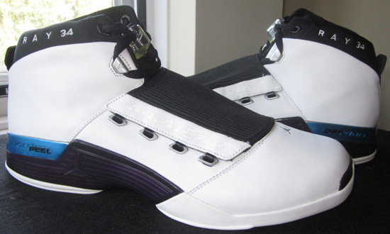 Ray Allen Jordan PEs: Air Jordan 17 Bucks Home Player Exclusive