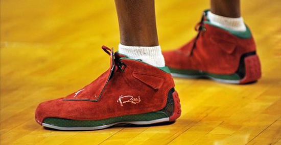 Ray Allen Jordan PEs: Air Jordan 18 2012 Christmas Day Player Exclusive