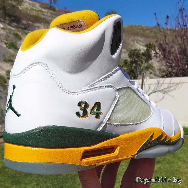 Ray Allen Jordan PEs: Air Jordan 5 Seattle Sonics Player Exclusive
