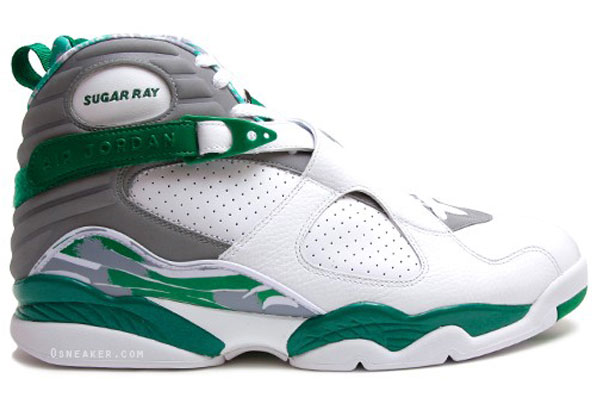 Ray Allen Jordan PEs: Air Jordan 8 Celtics Home Player Exclusive