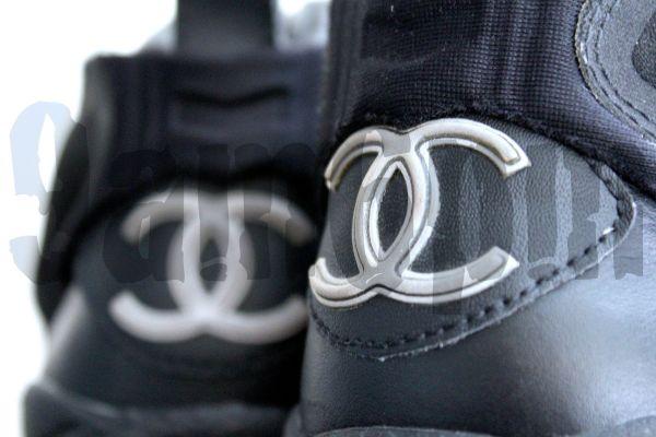 Chanel x Reebok Insta Pump Fury Black Lambskin 2005 1 of 5 Made