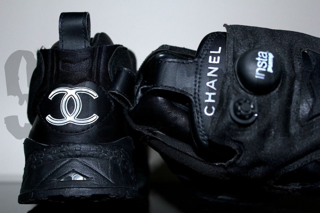 Chanel x Reebok Insta Pump Fury Black Lambskin 2005 1 of 5 Made