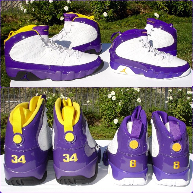 Shaq and Kobe Jordan 9s by @dependablejay