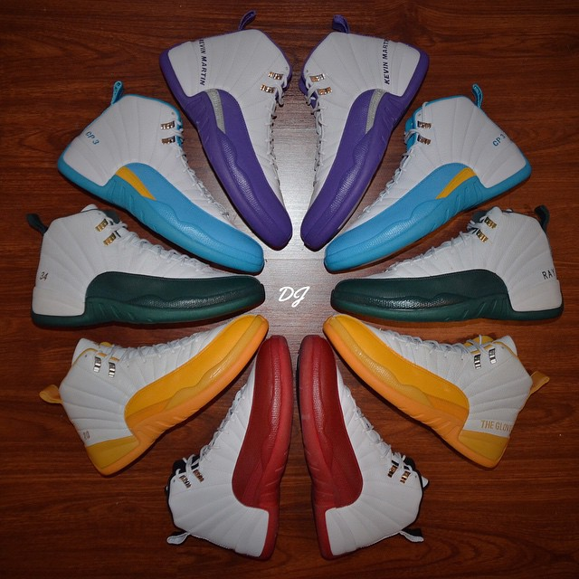 Jordan 12 PE Colorwheel by @dj_sneakerhead