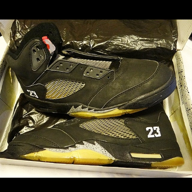 Jordan 5 Black Stitched 23 MJ PE by @gerard_og_vi