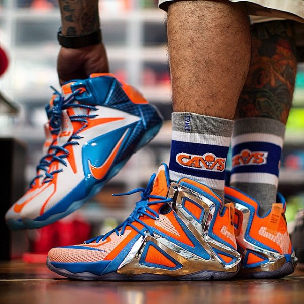 """Nike Lebron 12 """"Cavs"""" by @the_perfect_pair"""