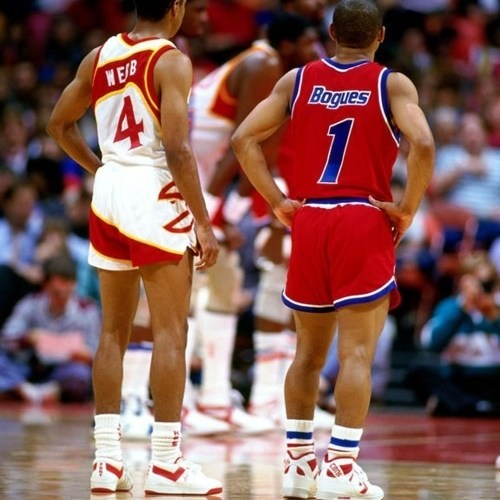 Spud Webb in Pony and Muggsy Bogues in Converse