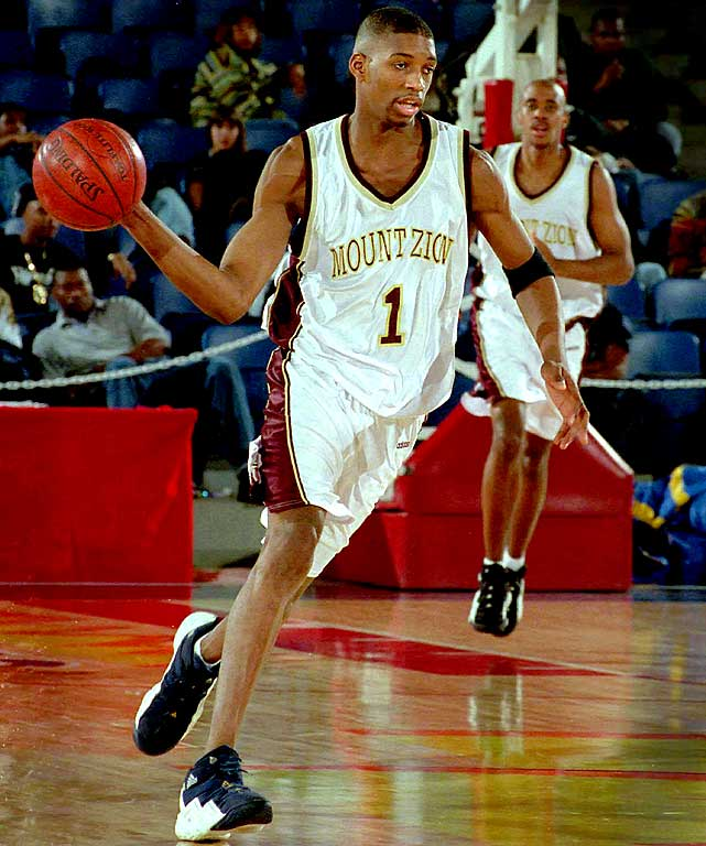 Tracy McGrady wearing the adidas Top Ten 2000 in High School