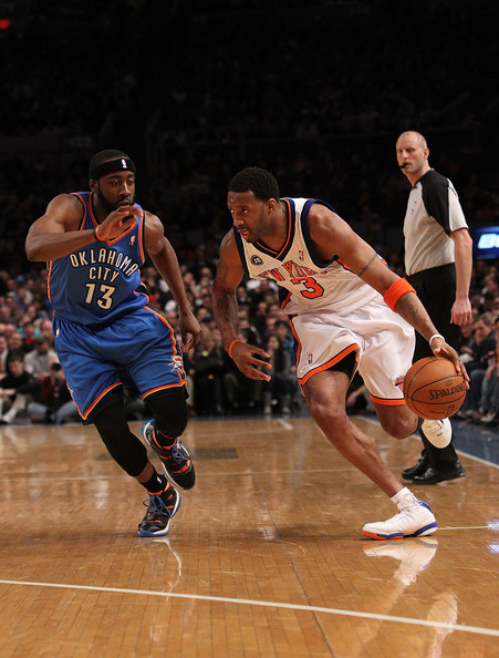 Tracy McGrady wearing the adidas TS Supernatural Creator New York Knicks PE