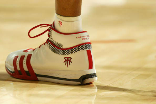 Tracy McGrady wearing the adidas TS Creator 2008 Election Day PE