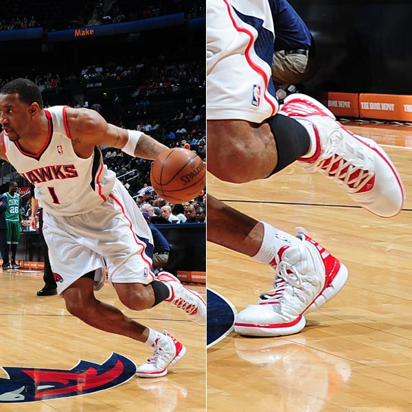 Tracy McGrady wearing the adidas adizero Shadow in 2012