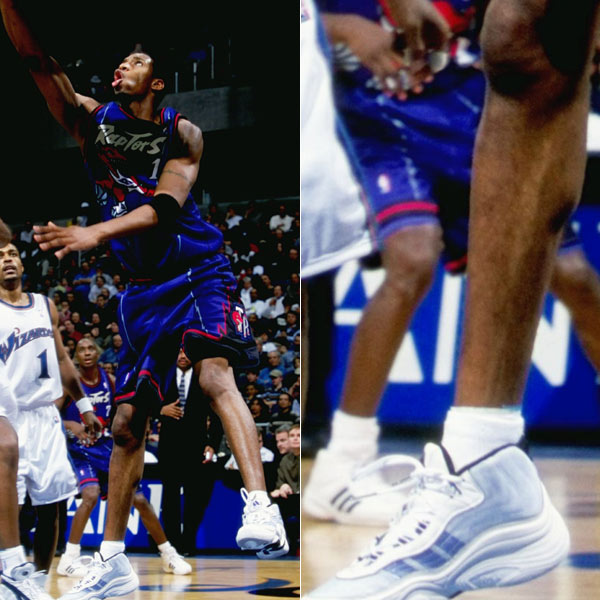 Tracy McGrady wearing the adidas KB8 II in 1999